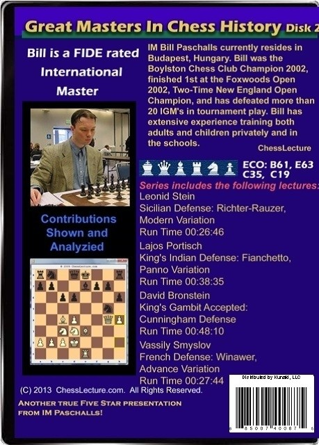 Great Masters in Chess History V2 back
