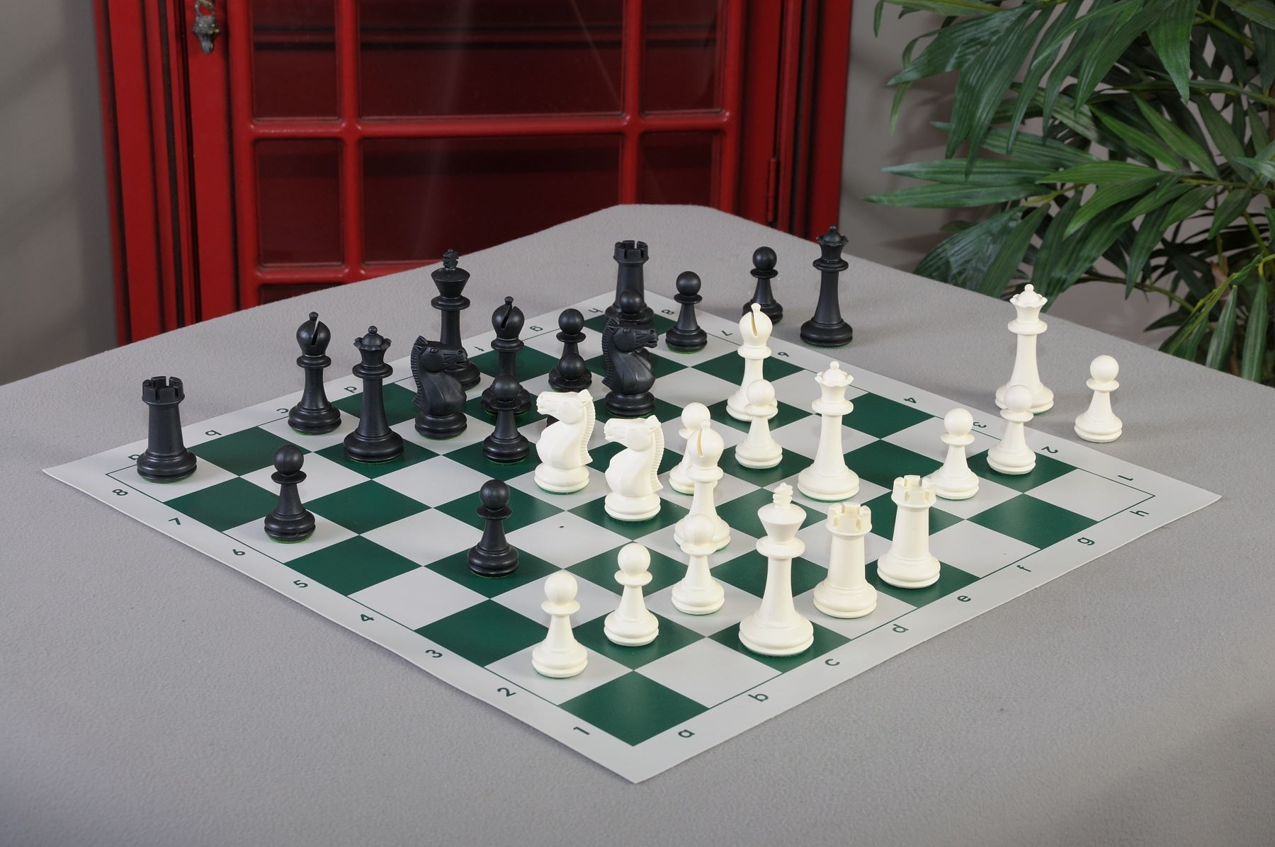 """USCF Sales The Classic Chess Set Golden Rosewood Pieces Only 3.75/"""" King"""