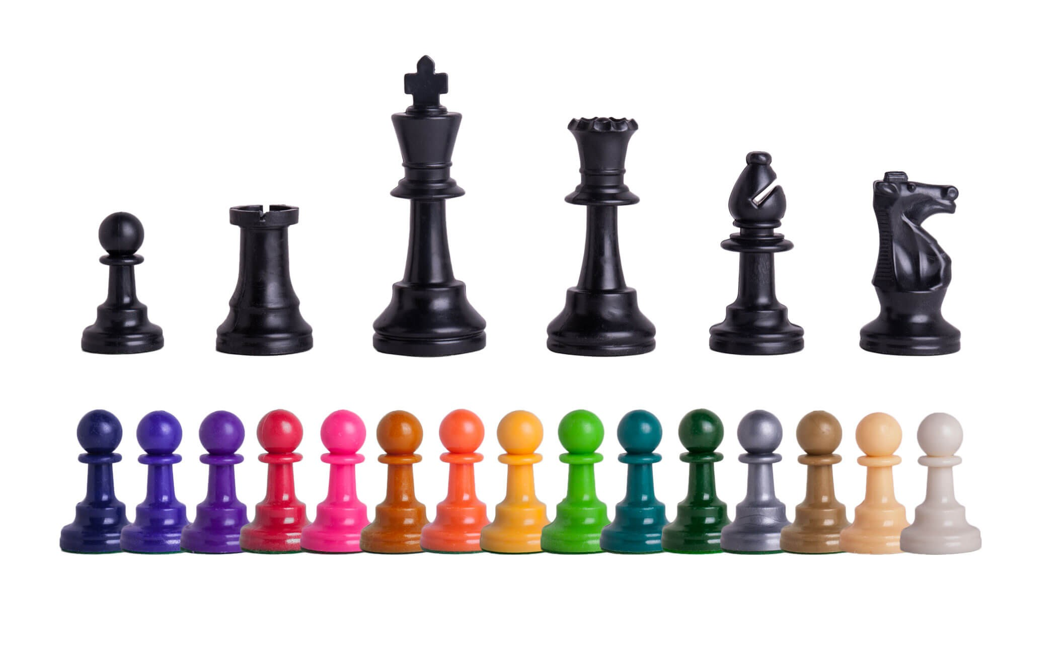 picture about Printable Chess Pieces titled Triple Weighted Coloured Law Plastic Chess Areas