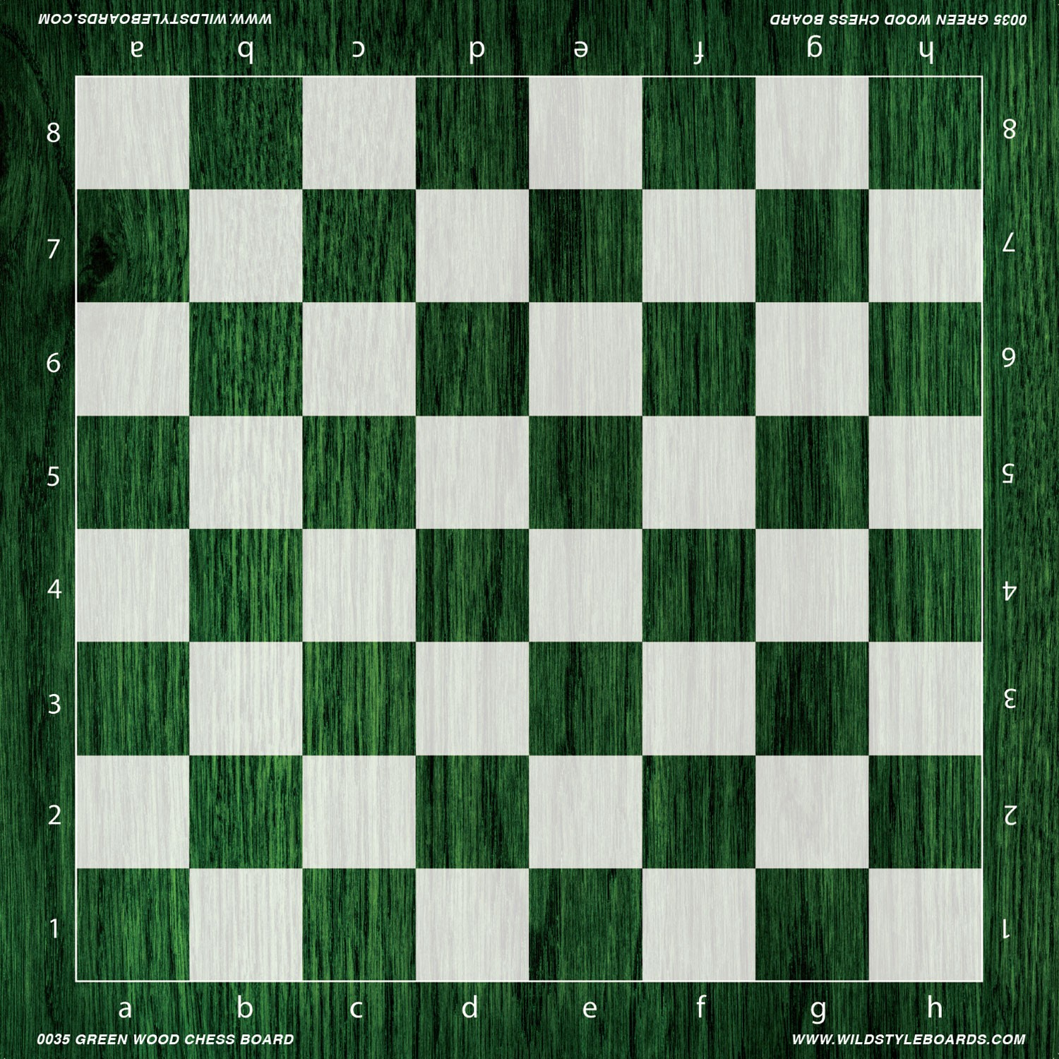 photograph relating to Chess Board Printable referred to as Eco-friendly Picket Chess Board - Total Colour Vinyl Chess Board