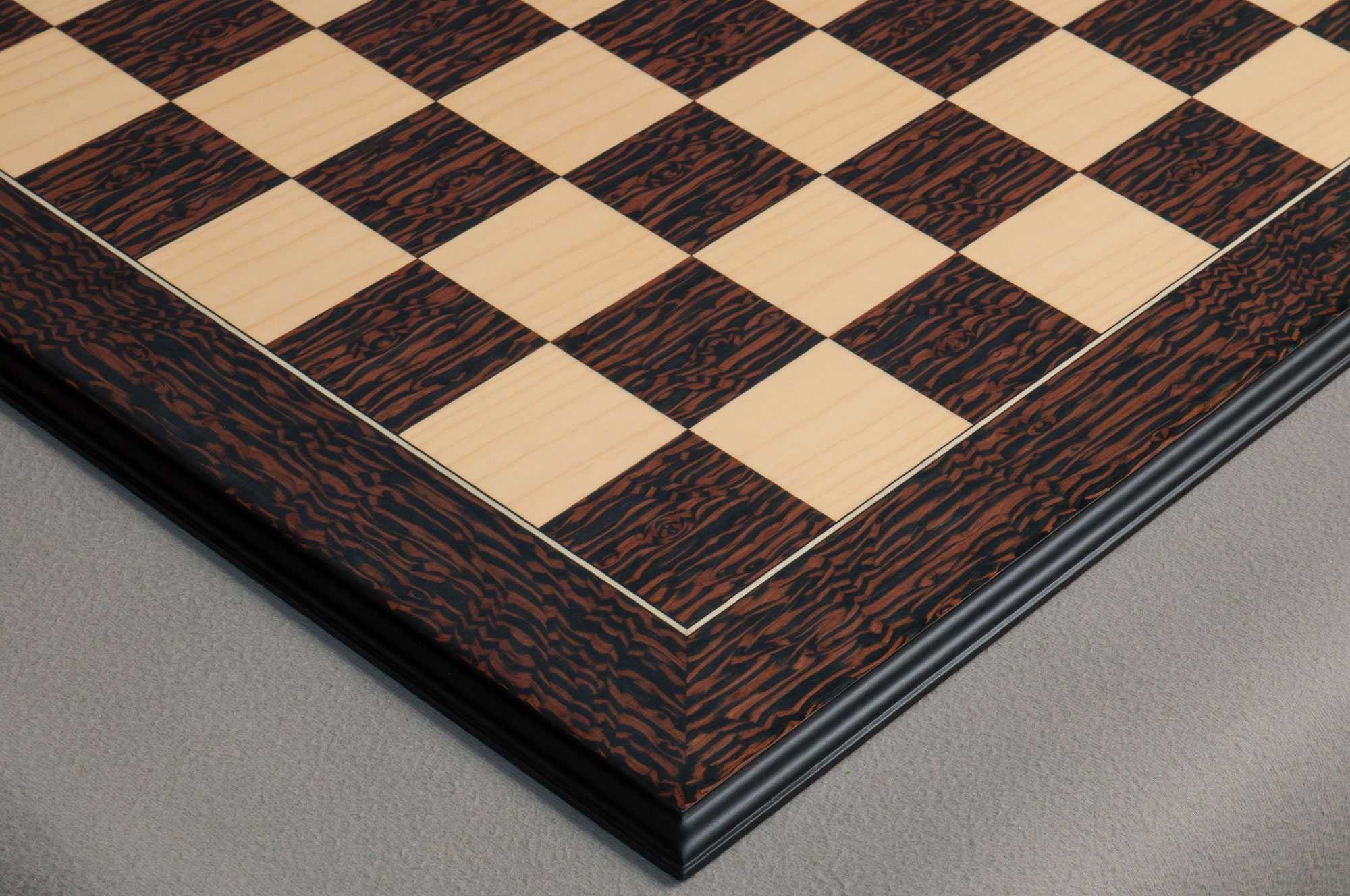 Tiger Ebony /& Maple Standard Traditional Chess Board 2.25/""