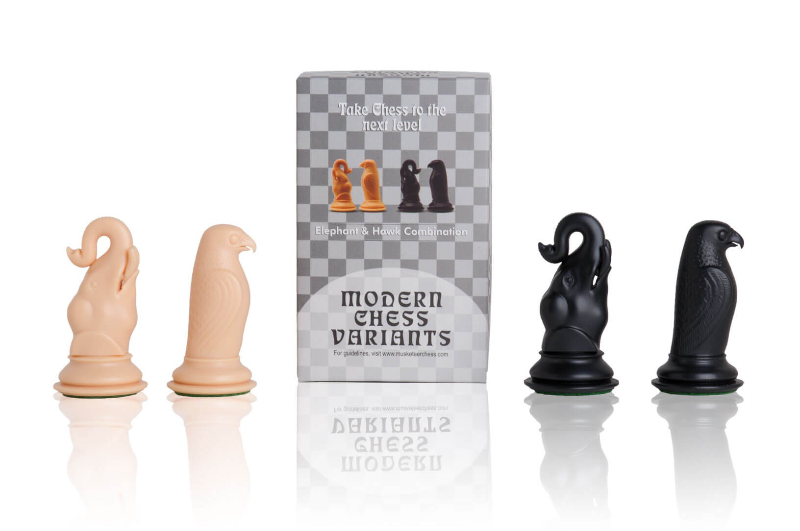 b1453abe9aeaf Musketeer Chess Elephant and Hawk Kit (Sharper Kit) - 4 PIECES ...