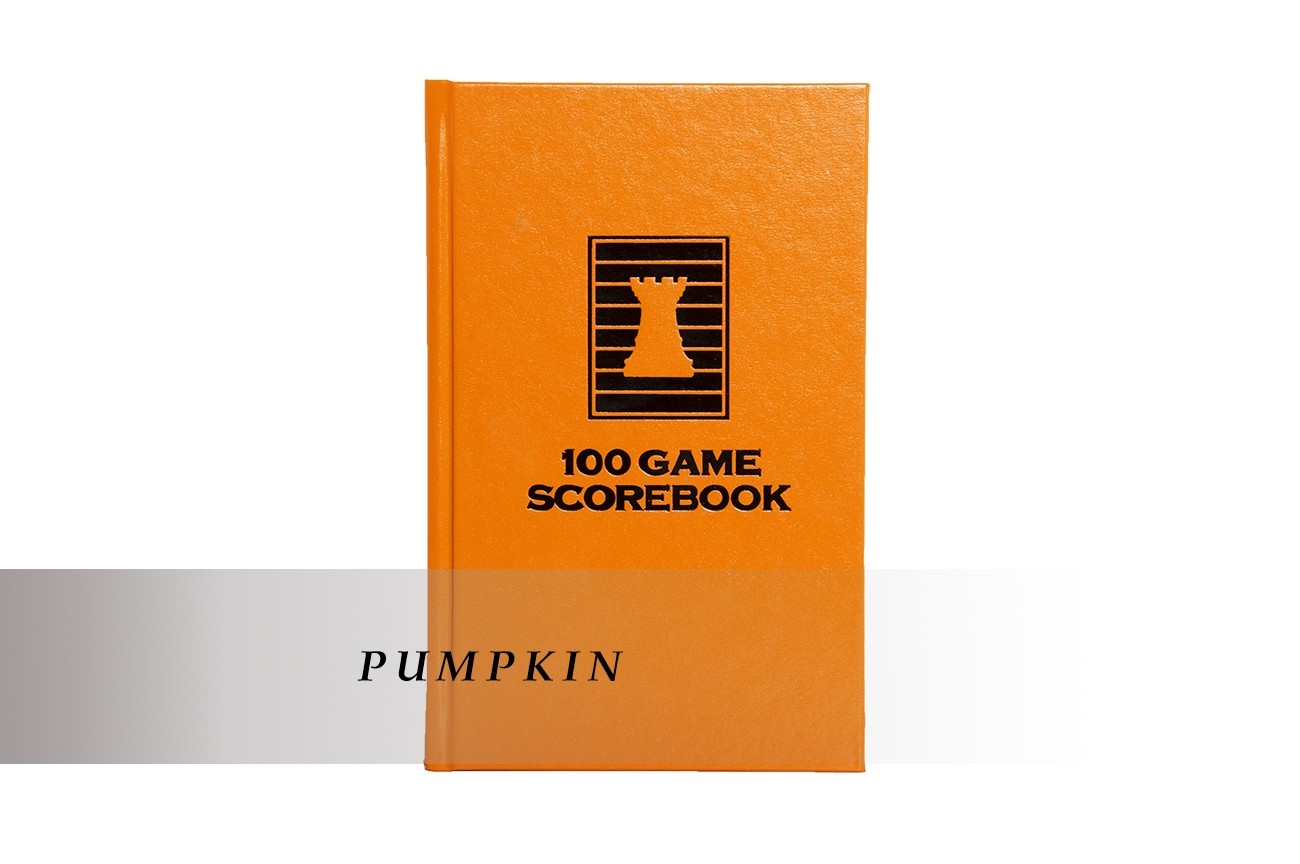 BROWN Luxury Hardcover Chess Scorebook