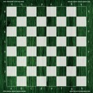 Green Wood Chess Board - Full Color Vinyl Chess Board