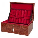 Signature Premium Fitted Coffer Chess Box - Vavona Burl & Maple