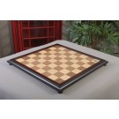 """CLEARANCE - Walnut and Maple Classic Traditional Chess Board - 2.25"""" Squares - With Logo"""