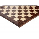 Olmo Burl & Maple Signature Traditional Chess Board - Gloss Finish