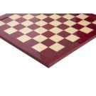 Redwood Burl & Maple Signature Traditional Chess Board - Gloss Finish