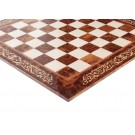 INLAID - Elm Burl & Maple Superior Traditional Chess Board - Gloss Finish