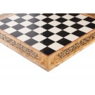 INLAID - Maple Burl & Ebony Superior Traditional Chess Board - Gloss Finish