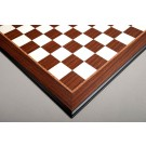 Striped Ebony and Bird's Eye Maple Standard Traditional Chess Board