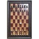 """Straight Up Chess Board - Red Cherry Chess Board with 2 7/8"""" Walnut Scoop Frame"""