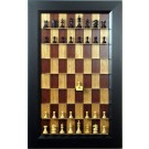 Straight Up Chess Board - Red Cherry Series with Flat Black Frame