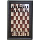 Straight Up Chess Board - Red Maple Chess Board with Walnut Scoop Frame