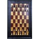 Straight Up Chess Board - Red Cherry Series with Rustic Brown Frame