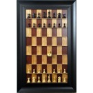 "Straight Up Chess Board - Red Cherry Board with 3 1/2"" Wide Scoop Frame"
