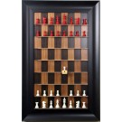 Straight Up Chess Board - Black Walnut Series with 3 1/2' Wide Scoop