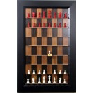 Straight Up Chess Board - Dark Walnut Series with Flat Black Frame