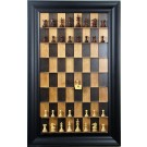 Straight Up Chess Board - Black Cherry Series with Black Contemporary Frame