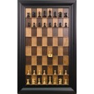 """Straight Up Chess Board - Cherry Bean Board with 3"""" Black Contemporary Frame"""