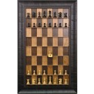Straight Up Chess Board - Cherry Bean Board with Rustic Brown Frame