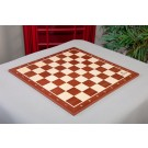 Mahogany and Maple Wooden Tournament Chess Board - with US Chess Federation Logo