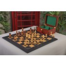 The Burnt Golden Rosewood Zagreb Series Chess Set, Box, & Satin Olivewood Board Combination