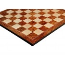 """Elm Burl & Maple Superior Traditional Chess Board - 2.5"""""""