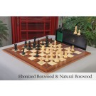 The British Chess Company - Staunton Popular Series Chess Set, Box, & Board Combination