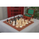 The Leicester Series Chess Set, Box, & Board Combination