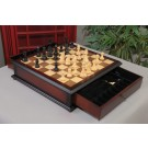 The Classic Series Library Chess Set and Tiroir Combination