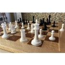"The Imperial Mammoth Staunton Chessmen by Oleg Raikis - 5.2"" King - Ivory and Black Stained"