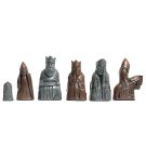 "The Isle of Lewis Chess Pieces - 3.5"" King - Metallic"