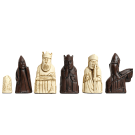 "The Isle of Lewis Chess Pieces - 3.5"" King - BROWN and NATURAL"