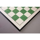 """CLEARANCE - Bird's Eye Maple and Greenwood Standard Traditional Chess Board - 3.0"""" - Black Frame"""