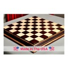 "Signature Contemporary Chess Board - AFRICAN PALISANDER  / BIRD'S EYE MAPLE - 2.5"" Squares"