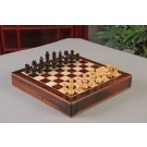 "WOODEN MAGNETIC Travel Chess Set - 12"" Square - Indian Rosewood and Maple"