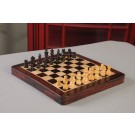 "FOLDING WOODEN MAGNETIC Travel Chess Set - 10"" - Indian Rosewood and Maple"