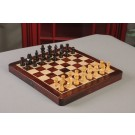 "FOLDING WOODEN MAGNETIC Travel Chess Set - 12"" - Indian Rosewood and Maple"