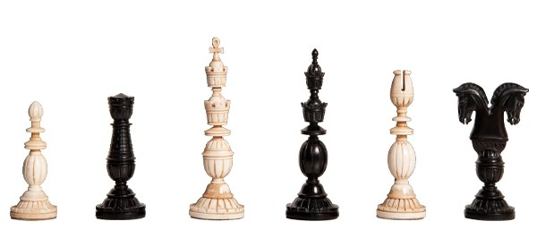 """Small Collector Series Staunton 3/"""" Ebony Wood Chess Pieces with Chess board"""