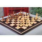 "The Twisted Series Luxury Chess Pieces - 4.4"" King - Golden Rosewood"