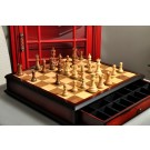 The Classic Series Tournament Chess Set and Tiroir Combination