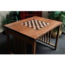 "Signature Traditional Chess Table with Built in Chess Board - 2.25"" Squares"