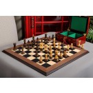 The Burnt Zagreb '59 Series Chess Set, Box, & Board Combination