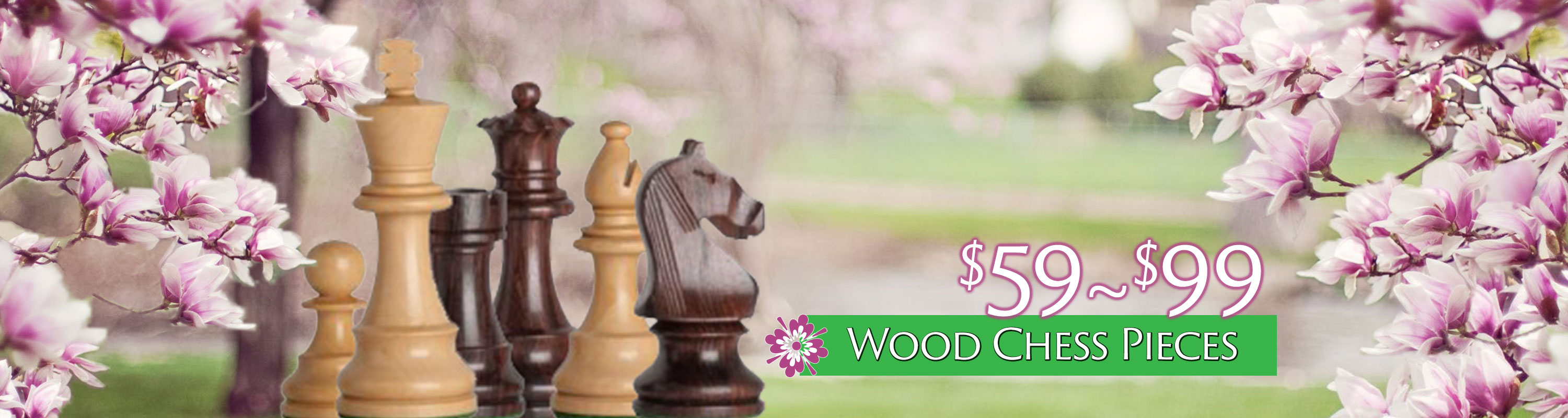 Wood Chess Pieces $59 - $99