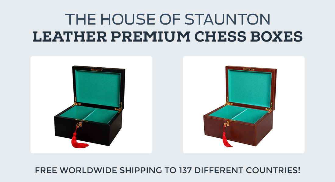 Leather Chess Boxes