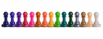 Plastic Chess Pieces 3